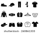 men fashion icons set | Shutterstock .eps vector #260861333