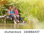 in summertime  portrait of an... | Shutterstock . vector #260886437
