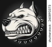 angry dog | Shutterstock .eps vector #260893373