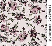 seamless floral pattern.... | Shutterstock .eps vector #260898563