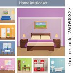 home interiors vector set | Shutterstock .eps vector #260900327
