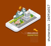 flat landscape street location... | Shutterstock .eps vector #260916017