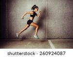 Slim Attractive Sportswoman...