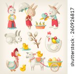colorful images of easter... | Shutterstock .eps vector #260926817