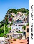 capri town on capri island ... | Shutterstock . vector #260933297