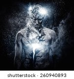man with conceptual spiritual... | Shutterstock . vector #260940893
