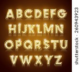 modern lighting alphabet set... | Shutterstock .eps vector #260943923
