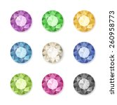 Vector Set Of Colored Gem...