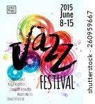 jazz blues music festival ... | Shutterstock .eps vector #260959667