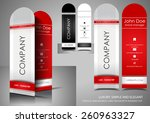 vertical mini business card | Shutterstock .eps vector #260963327