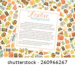 vector background of gift boxes.... | Shutterstock .eps vector #260966267