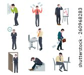 failure business set with...   Shutterstock .eps vector #260968283