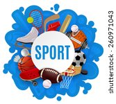 Sport Equipment Concept With...