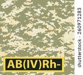 badge ab blood group  rh...   Shutterstock .eps vector #260971283