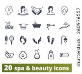 Spa Salon Icons  Vector Set Of...