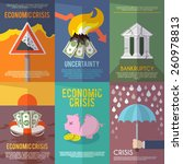 economic crisis mini poster set ... | Shutterstock .eps vector #260978813