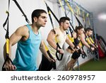 young people training in... | Shutterstock . vector #260978957