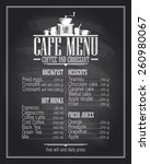chalkboard cafe menu list... | Shutterstock .eps vector #260980067