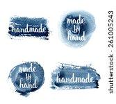 handmade. original custom hand... | Shutterstock .eps vector #261005243