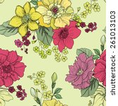 floral seamless background... | Shutterstock .eps vector #261013103