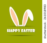 Happy Easter Card With Rabbit...