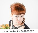 picture of happy woman with... | Shutterstock . vector #261025523