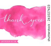 Thank You Calligraphy Text On...