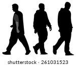 men silhouette vector  isolated | Shutterstock .eps vector #261031523