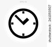 clock icon | Shutterstock .eps vector #261053507