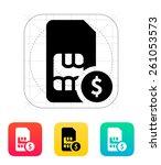 sim card with dollar icon.