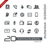 communications icon set   ... | Shutterstock .eps vector #261063263
