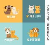vector pet shop logo design...   Shutterstock .eps vector #261064643