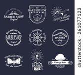 vector set of vintage hipster... | Shutterstock .eps vector #261077123