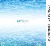 vector realistic water... | Shutterstock .eps vector #261078227