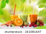fresh juice mix vegetables and... | Shutterstock . vector #261081647