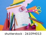 arts and craft supplies.  color ... | Shutterstock . vector #261094013
