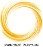 vector light ocher whirl ripple ... | Shutterstock .eps vector #261096683