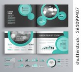 black brochure template design... | Shutterstock .eps vector #261099407