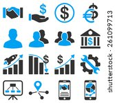 business and financial symbols. ... | Shutterstock .eps vector #261099713