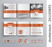 classic brochure template... | Shutterstock .eps vector #261103853