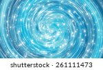 abstract blue shiny background. ... | Shutterstock . vector #261111473