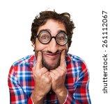 crazy happy man | Shutterstock . vector #261112067