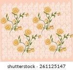 beautiful lined bouquet of... | Shutterstock .eps vector #261125147