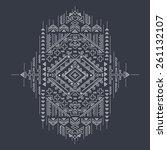 tribal vintage ethnic... | Shutterstock .eps vector #261132107