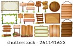 different designs of wooden... | Shutterstock .eps vector #261141623
