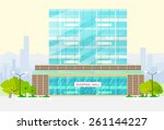 shopping mall building exterior ... | Shutterstock .eps vector #261144227
