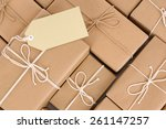 Small photo of Parcel heap, pile, label