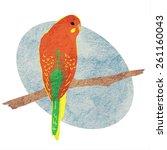 vector illustration of a parrot | Shutterstock .eps vector #261160043