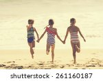 summer vacation at the beach ... | Shutterstock . vector #261160187