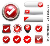 check mark icon | Shutterstock .eps vector #261166733